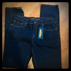 Old Navy built in flex straight blue jeans 34x36
